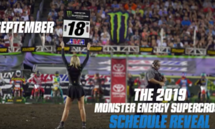 2019Monster Energy Supercross Schedule To Be Released in 13 Days