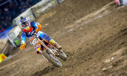 Troy Lee Designs/Red Bull/KTM's Shane McElrath On the Podium At A1