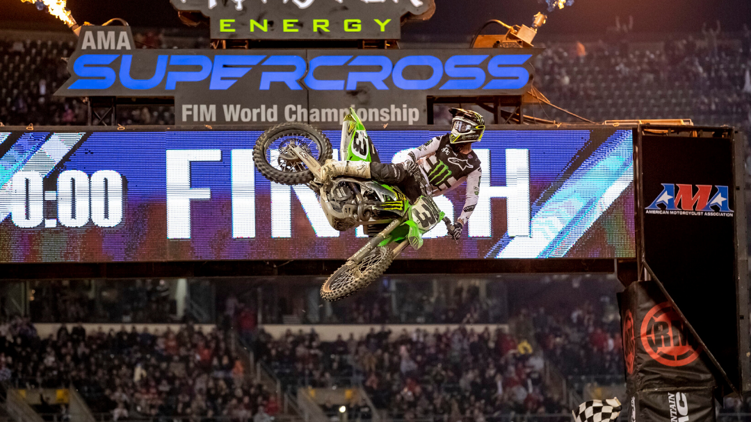 MONSTER ENERGY® KAWASAKI RIDER ELI TOMAC DOMINATES THE COMPETITION IN OAKLAND