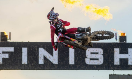 Gajser fights back with moto win and second overall, Evans top five