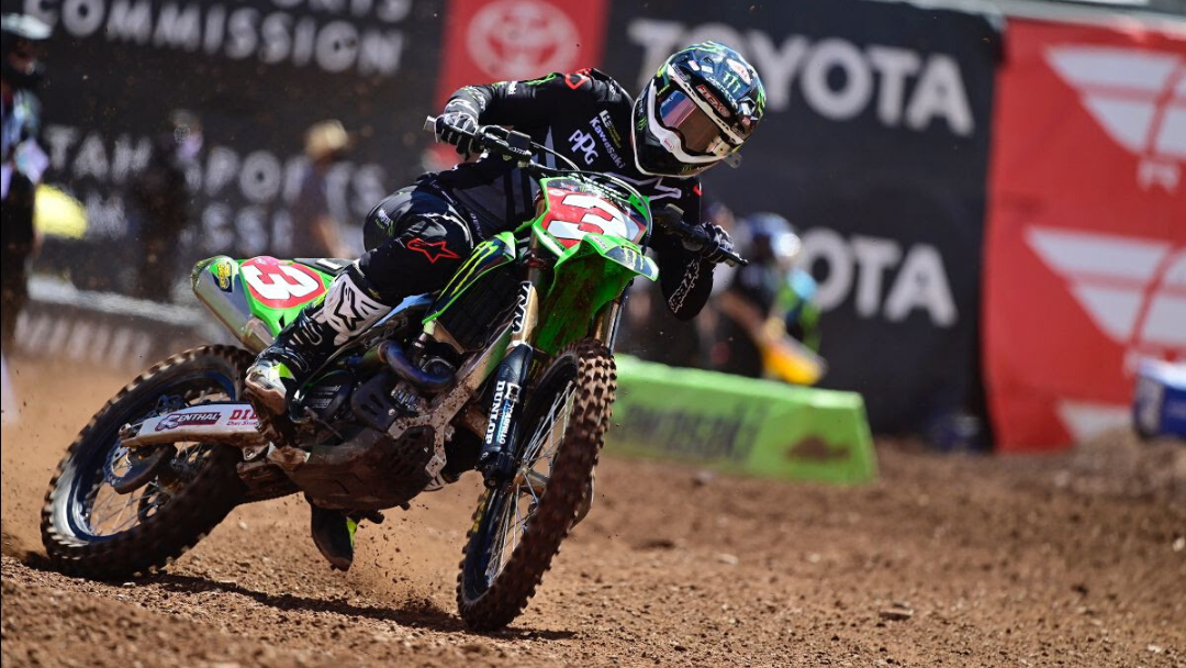 Monster Energy® Kawasaki Rider Eli Tomac Charges to Second-Place Finish to Bring a 22-Point Championship Lead to the Season Finale