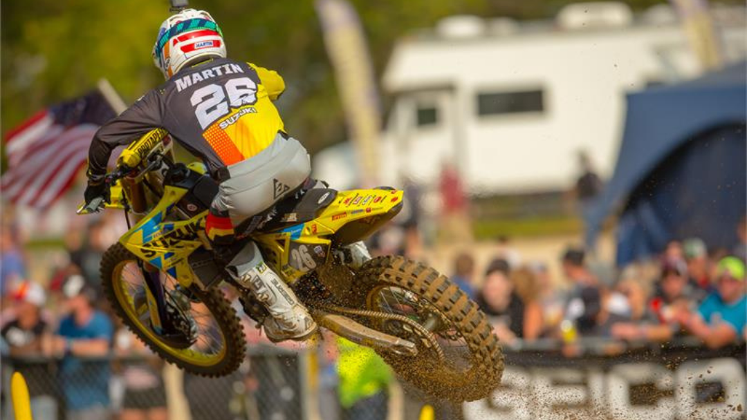 MARTIN AND SUZUKI 3RD OVERALL AT SPRING CREEK MX