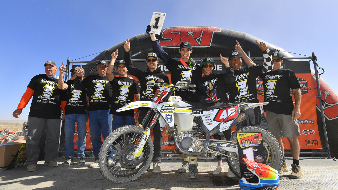 HUSQVARNA MOTORCYCLES-SUPPORTED RIDER DALTON SHIREY EARNS CAREER-FIRST NHHA OVERALL CHAMPIONSHIP