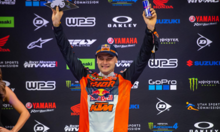 WEBB PREVAILS THROUGH CHAOTIC MAIN EVENT TO LAND A PODIUM FINISH AT INDIANAPOLIS SX 1
