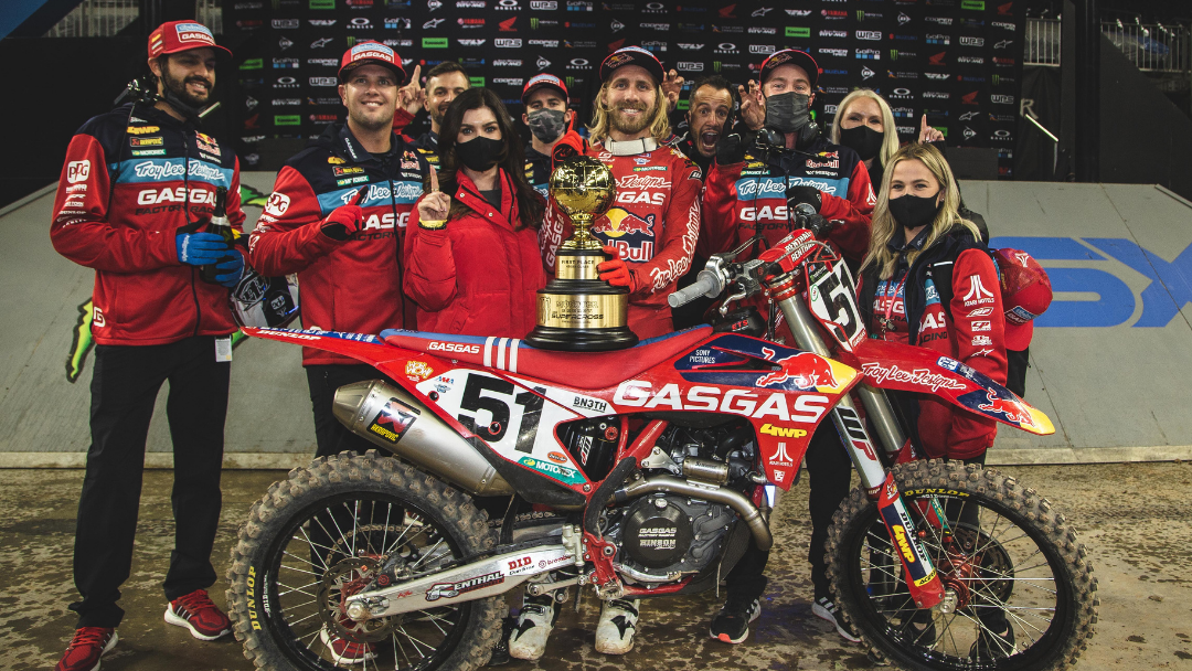HISTORIC NIGHT FOR TROY LEE DESIGNS/RED BULL/GASGAS FACTORY RACING TEAM AT HOUSTON SX SEASON OPENER