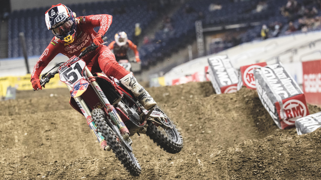 TOUGH NIGHT IN INDY FOR TROY LEE DESIGNS/RED BULL/GASGAS FACTORY RACING TEAM