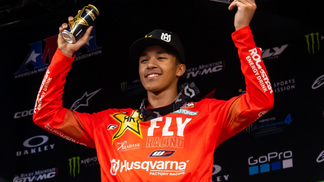 ROCKSTAR ENERGY HUSQVARNA FACTORY RACING'S JALEK SWOLL EARNS FIRST-CAREER PODIUM IN 250SX WEST DIVISION