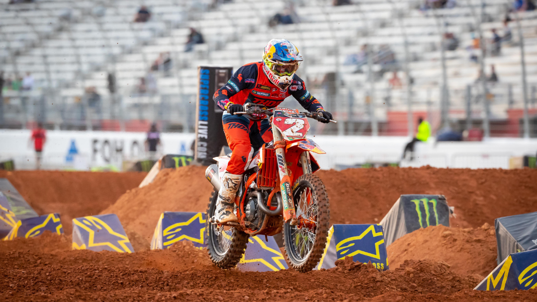 POINTS LEADER COOPER WEBB FINISHES SIXTH IN ATLANTA