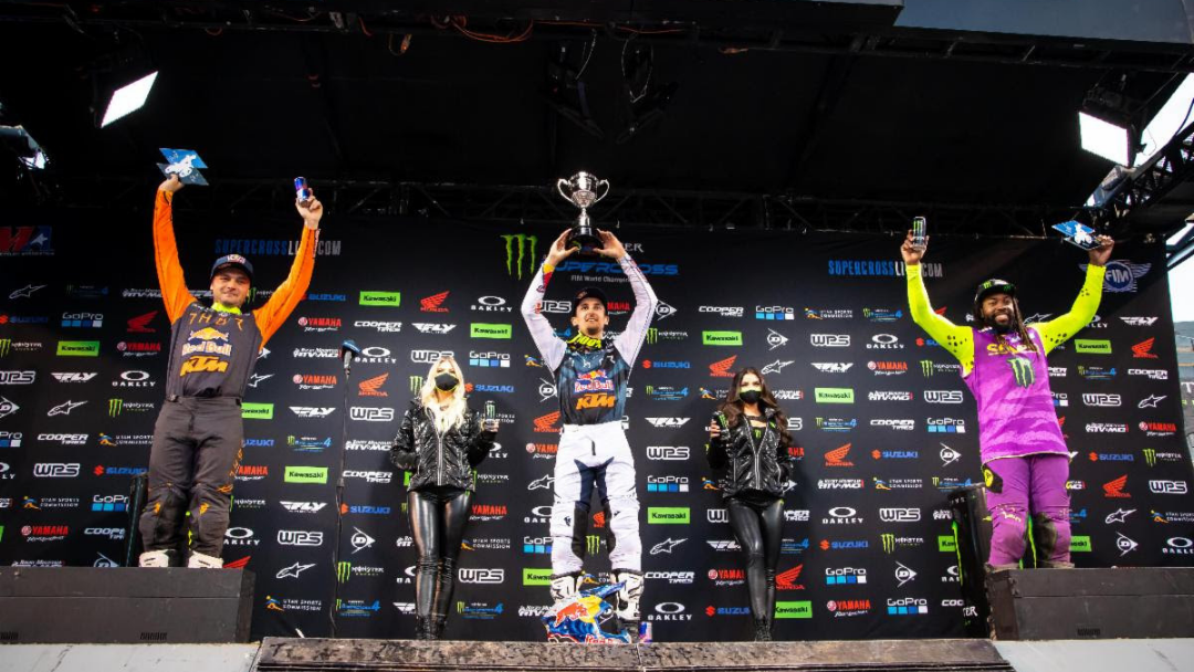 Marvin Musquin Returns to the Top in Thrilling 450SX Class Supercross Victory – Jo Shimoda Grabs Historic 250SX Class Win and Takes Title to Final Round