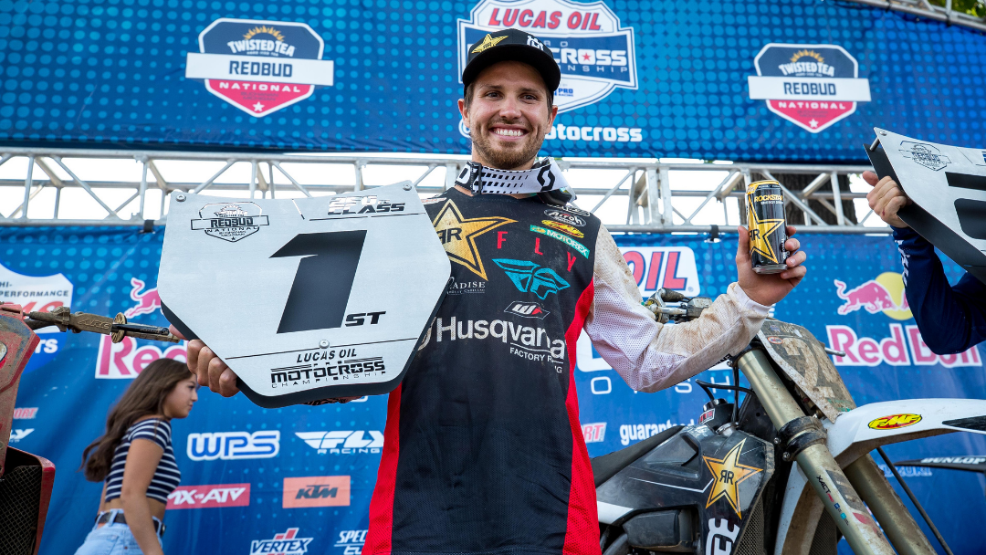 RJ HAMPSHIRE GRINDS HIS WAY TO VICTORY AT REDBUD MX