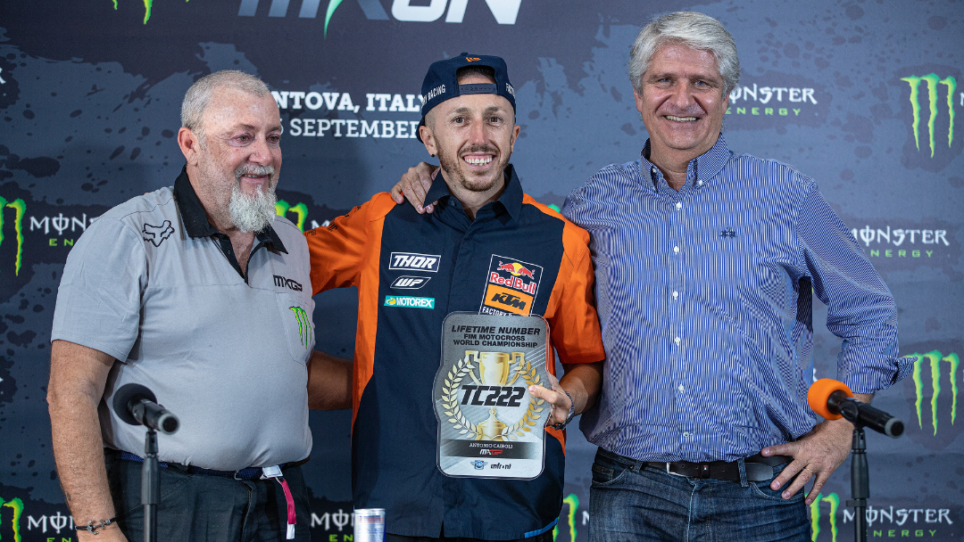 #222 TO BE 'RETIRED' FROM MXGP COMPETITION IN HONOR OF TONY CAIROLI'S OUTSTANDING CAREER