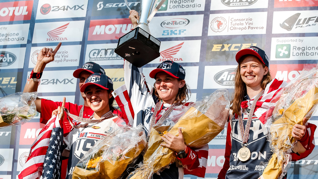 RACHEL GUTISH AND BRITNEY GALLEGOS ENJOY SWEET VICTORY AT 95TH EDITION OF ISDE