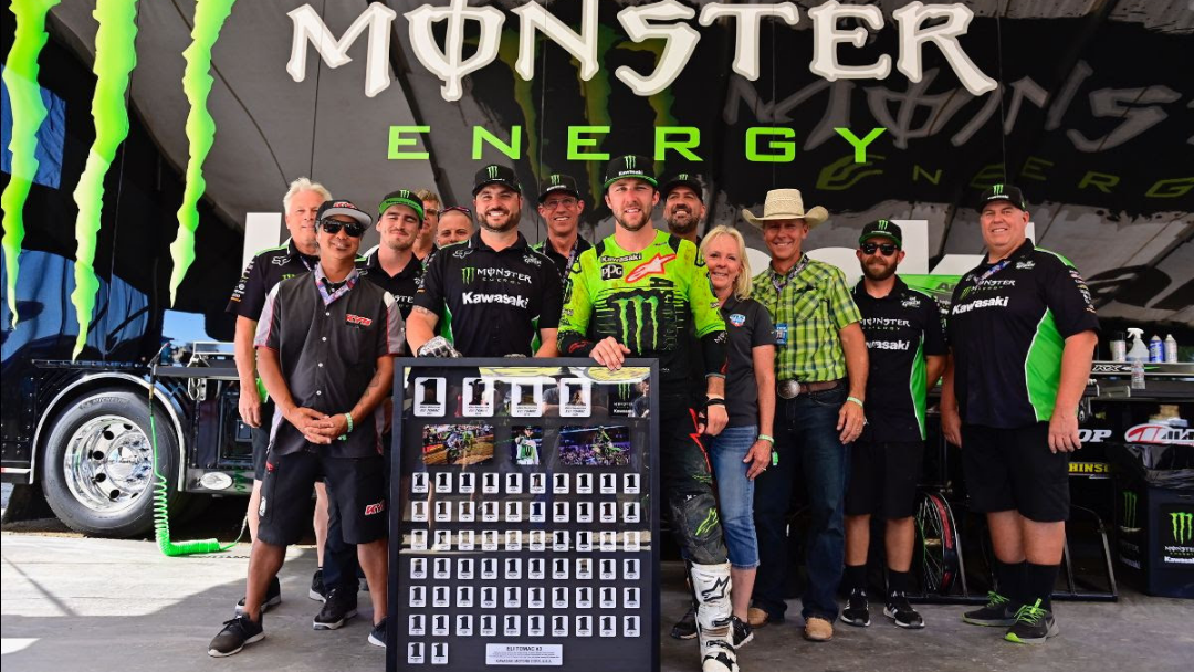 Monster Energy® Kawasaki Rider Eli Tomac Earns Second Overall in the AMA Pro Motocross Championship Standings