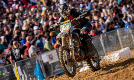 JED BEATON STEPS ONTO THE ROSTRUM AT MXGP ROUND 13